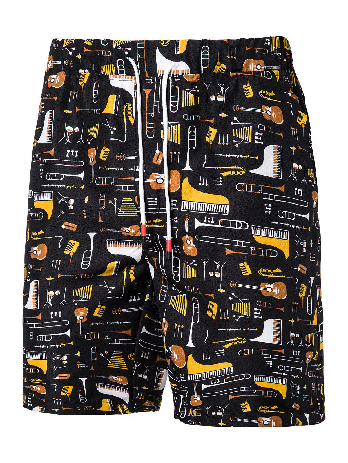 Latest Musical Instruments Pattern Board Shorts