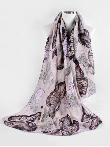 Butterfly Pattern Print Big Long Scarf