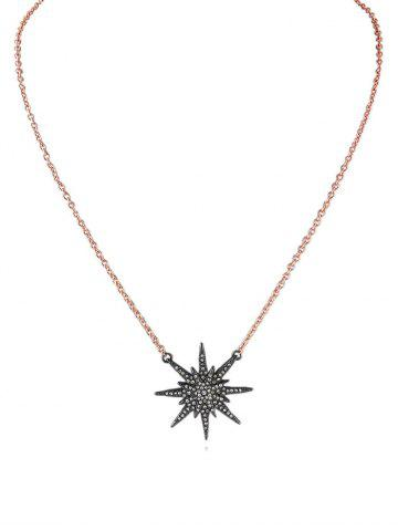 Vintage Star Shape Rhinestone Necklace