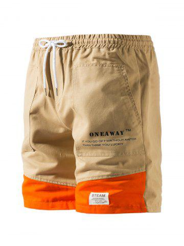 Contrast Patch Graphic Cargo Shorts