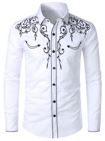 Casual Button Up Design Long Sleeves Shirt