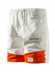 Contrast Patch Graphic Cargo Shorts -