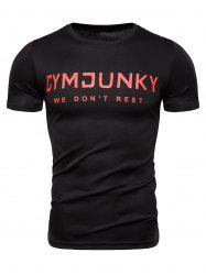 Casual Style Letter Print T-shirt -