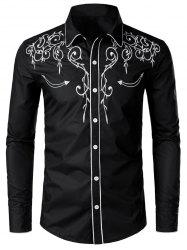 Casual Button Up Design Long Sleeves Shirt -