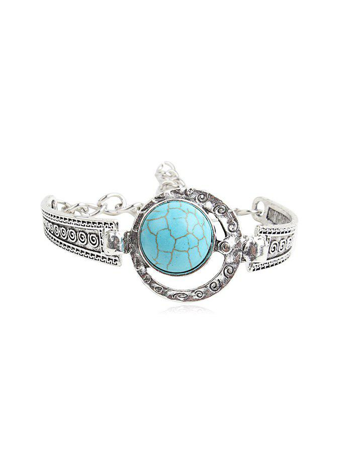 Buy Bohemia Turquoise Hollowed Out Bracelet