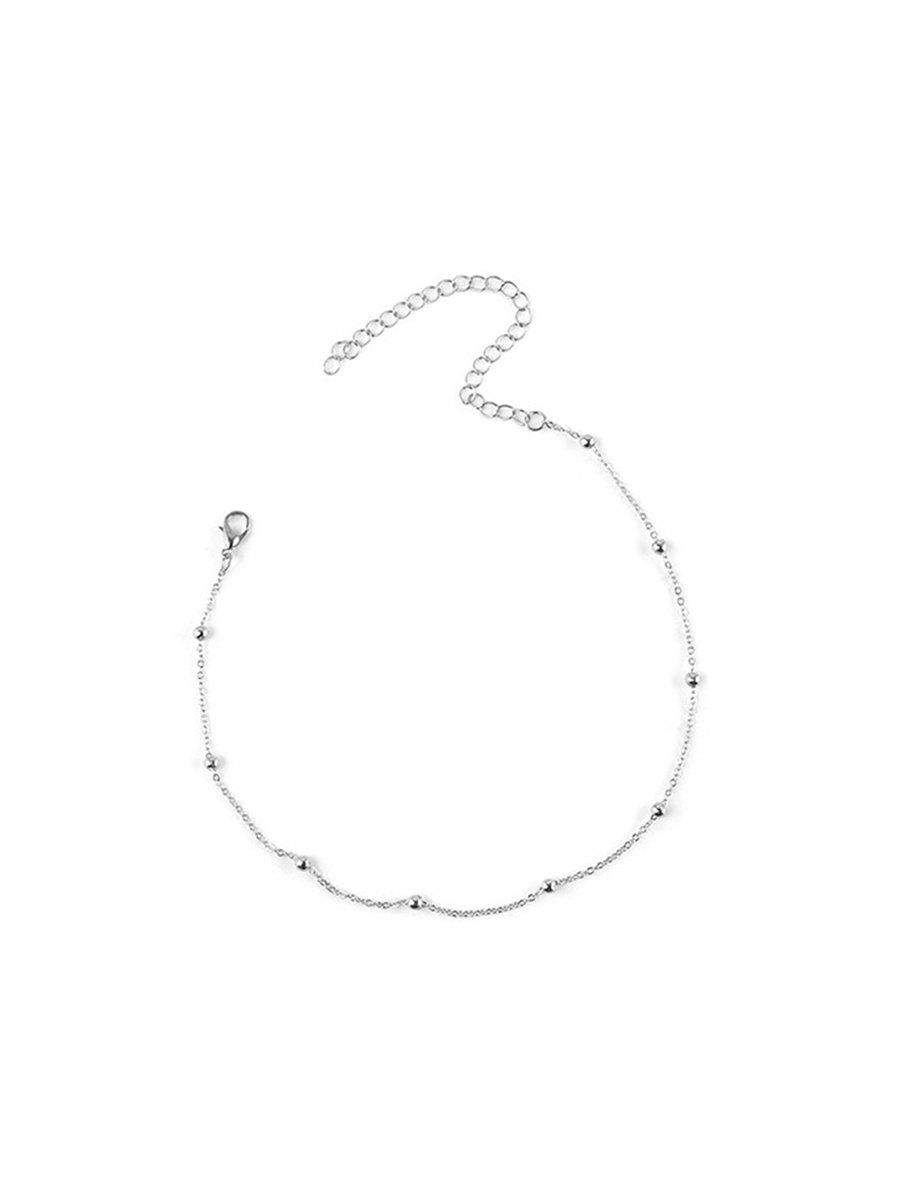 New Simple Beads Chain Collarbone Necklace