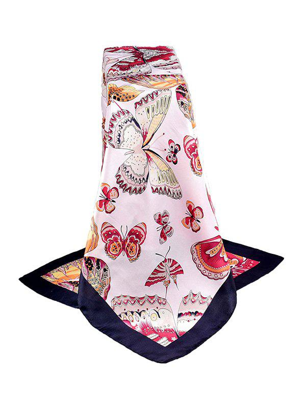 Latest Butterfly Print Satin Silky Square Scarf
