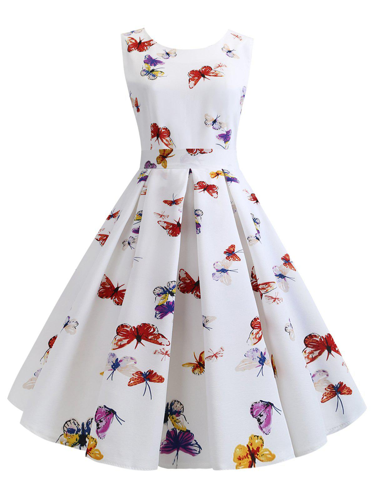 Best Butterfly Printed Sleeveless Party Dress