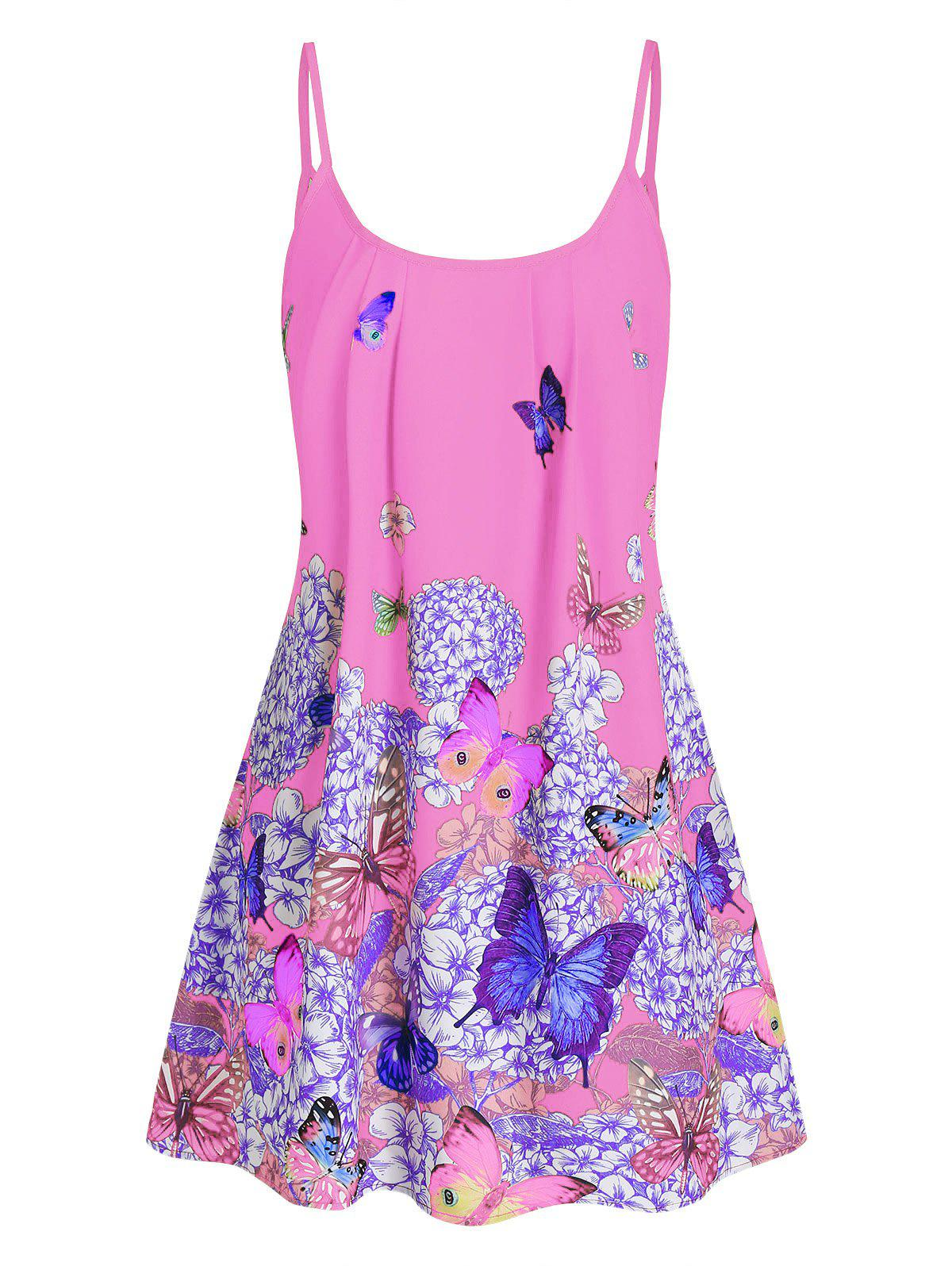 Outfits Butterfly Flower Cami Tunic Dress
