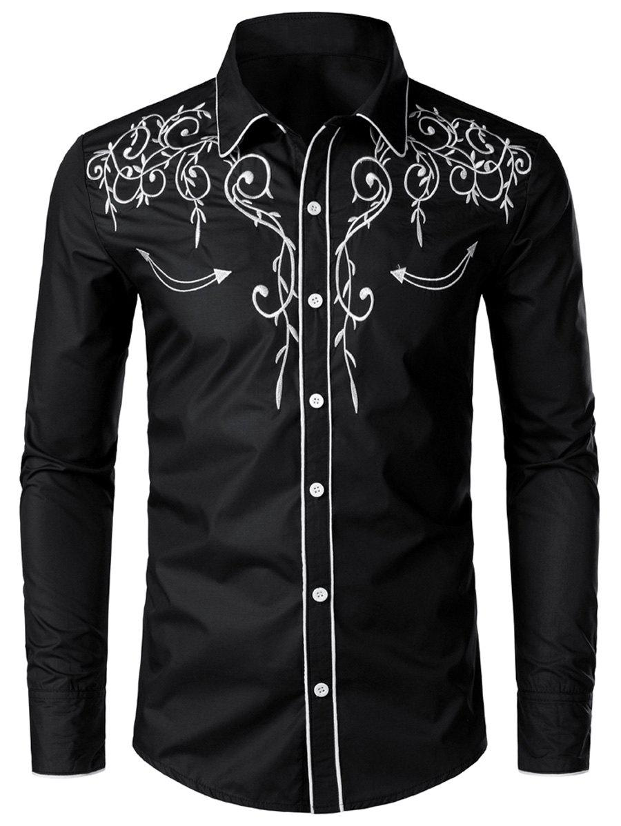 Chic Casual Button Up Design Long Sleeves Shirt