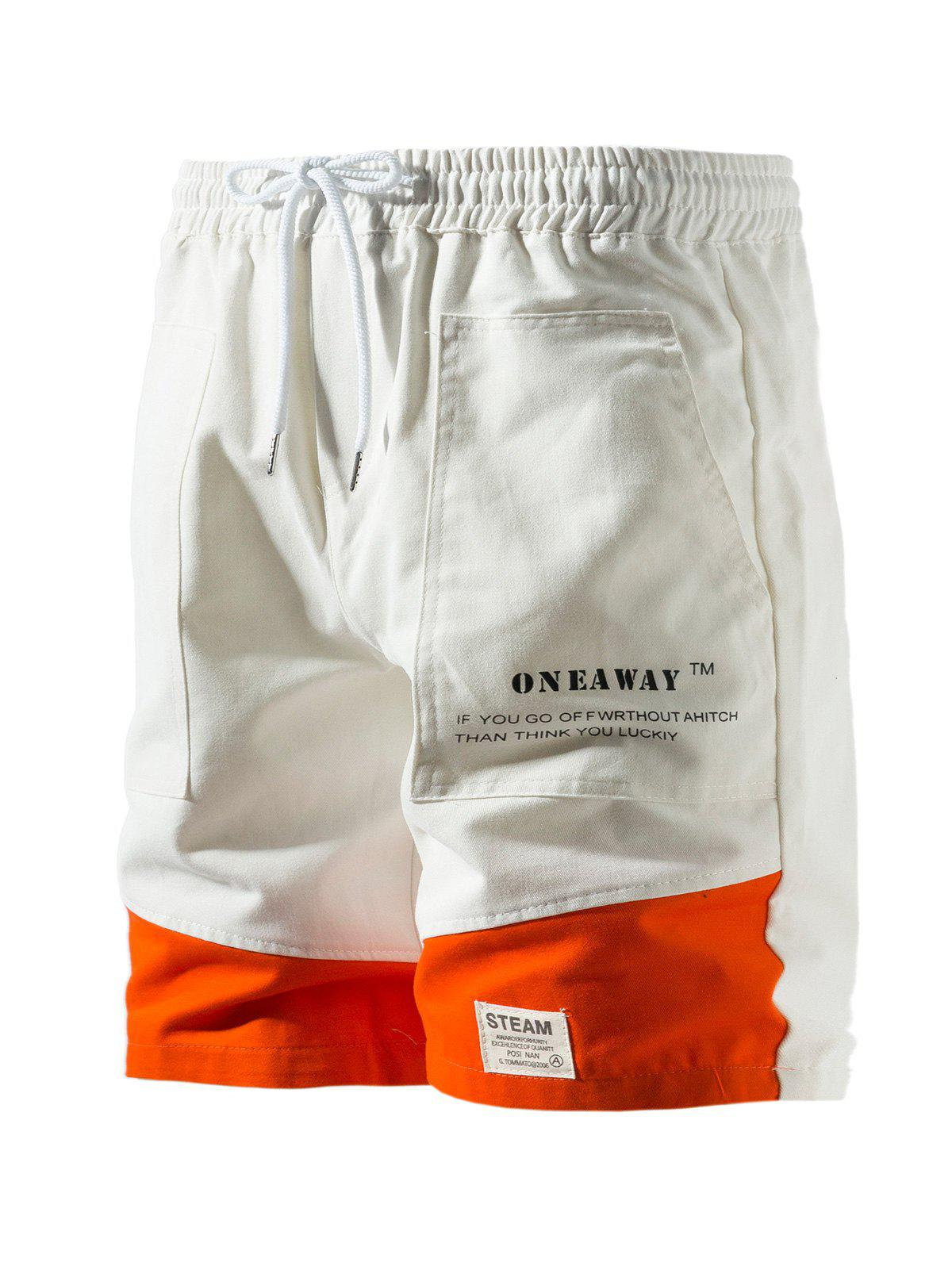 Store Contrast Patch Graphic Cargo Shorts