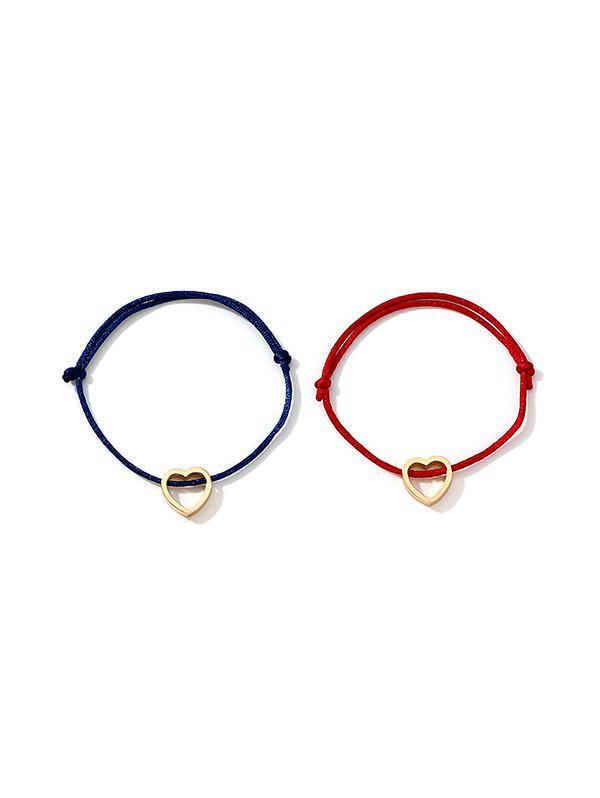 Fashion 2Pcs Heart Love Couple Bracelet Set