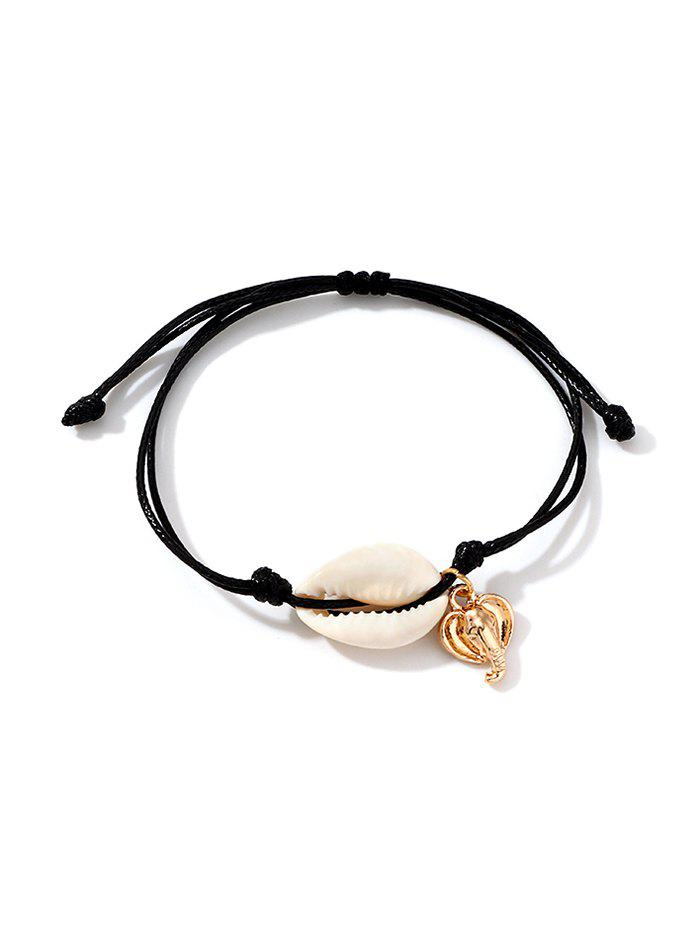 Discount Shell Metal Elephant Rope Bracelet