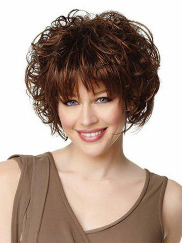 See-through Bang Body Wave Short Synthetic Wig