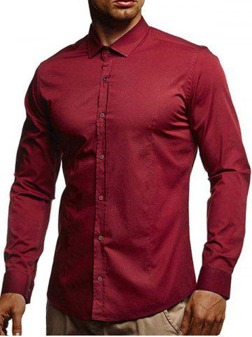 Casual Solid Color Long Sleeves Shirt
