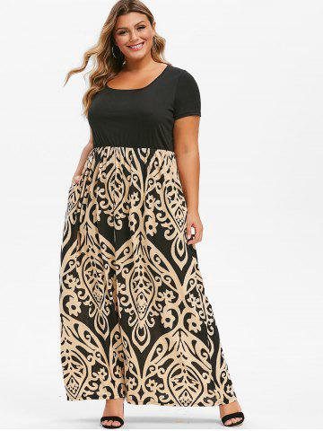 01c26c02871 Plus Size Maxi Dresses - Long Sleeve, Floral, White And Black Cheap ...