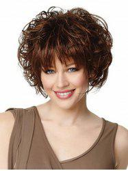See-through Bang Body Wave Short Synthetic Wig -