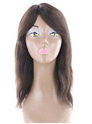 Side Bang Long Natural Straight Human Hair Wig -