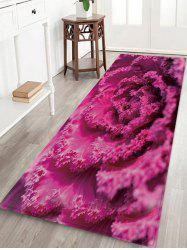 3D Flower Print Design Floor Mat -