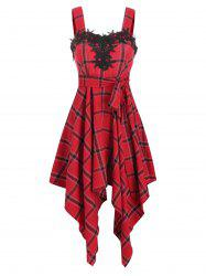 Plaid Sweetheart Asymmetrical Dress -