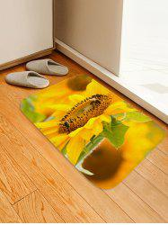 Fresh Sunflower 3D Print Floor Rug -