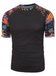 Floral Printed Leisure Short Sleeves T-shirt -