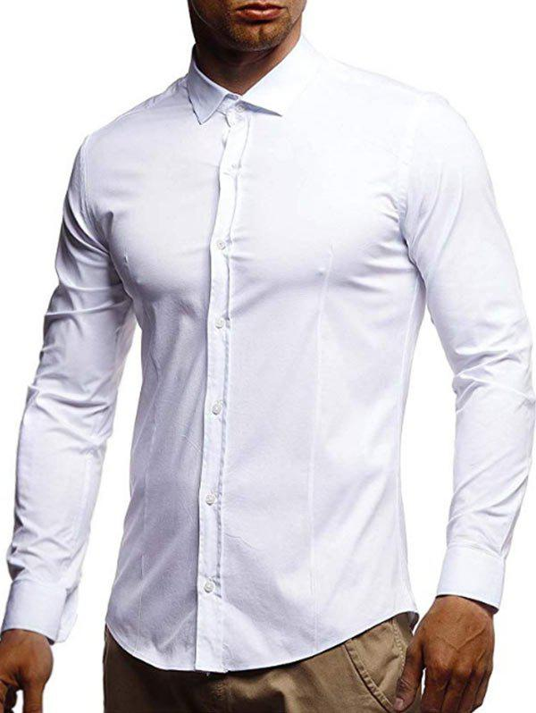 Best Casual Solid Color Long Sleeves Shirt