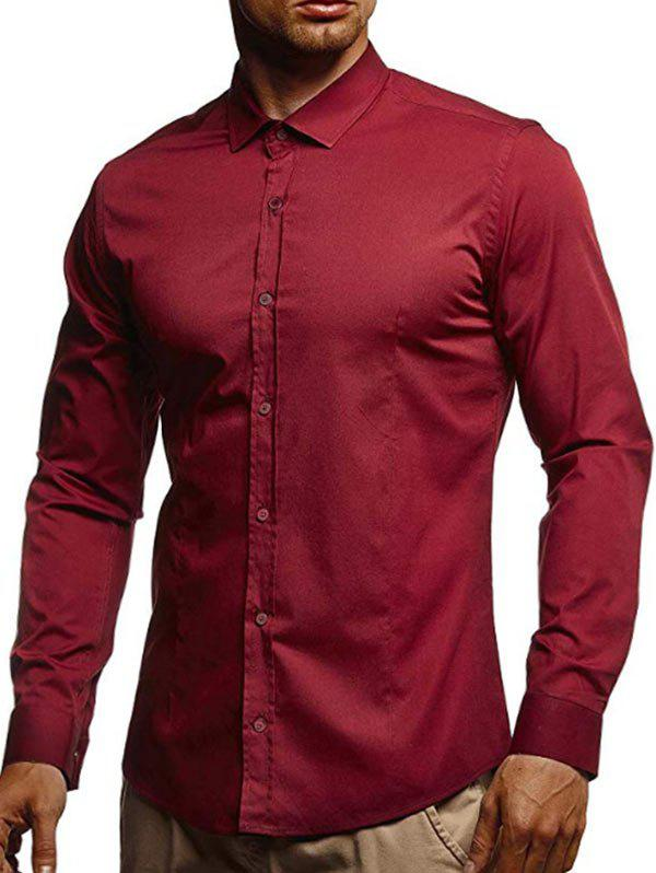 Latest Casual Solid Color Long Sleeves Shirt