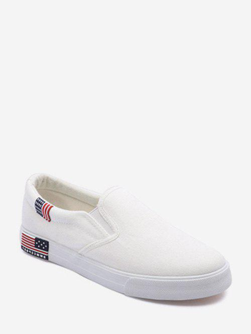 Online American Flag Detail Canvas Loafer Shoes