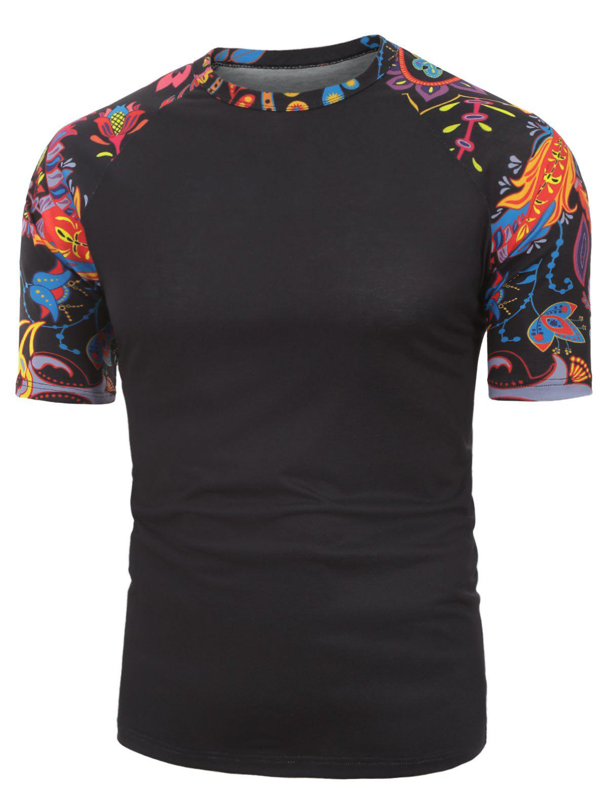 Chic Floral Printed Leisure Short Sleeves T-shirt