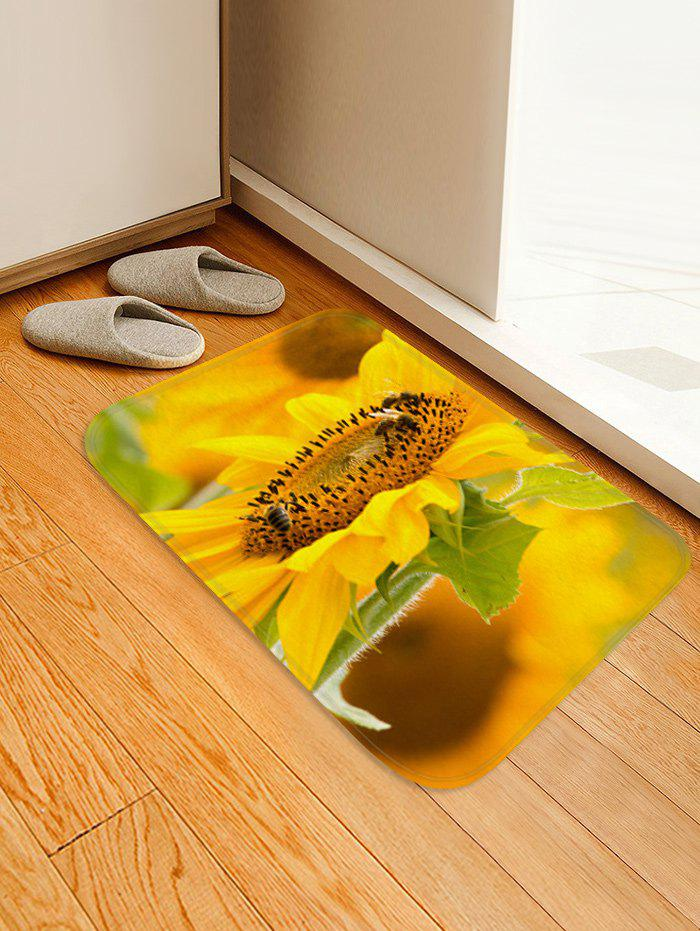 Online Fresh Sunflower 3D Print Floor Rug