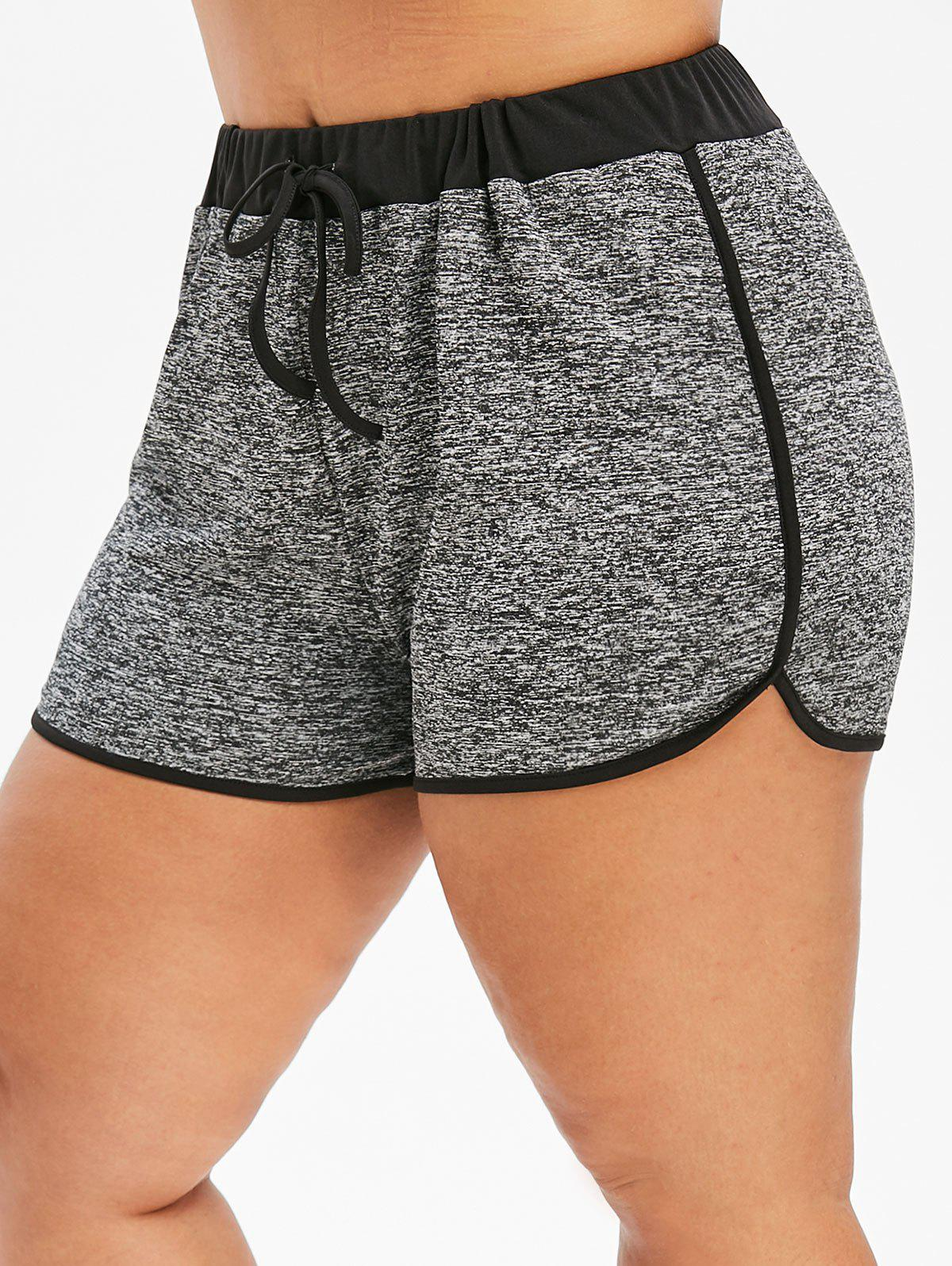 Hot Plus Size Contrast Space Dyed Shorts