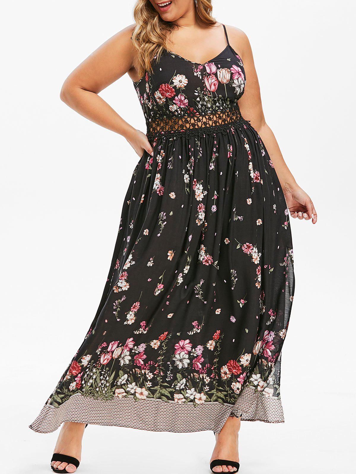 Plus Size High Slit Bohemian Maxi Dress