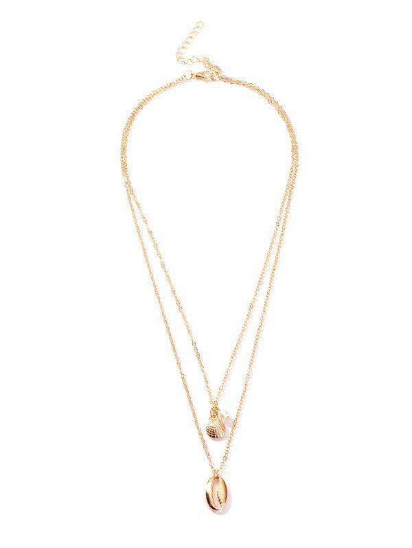 Discount Shell Shape Pendant Layered Necklace