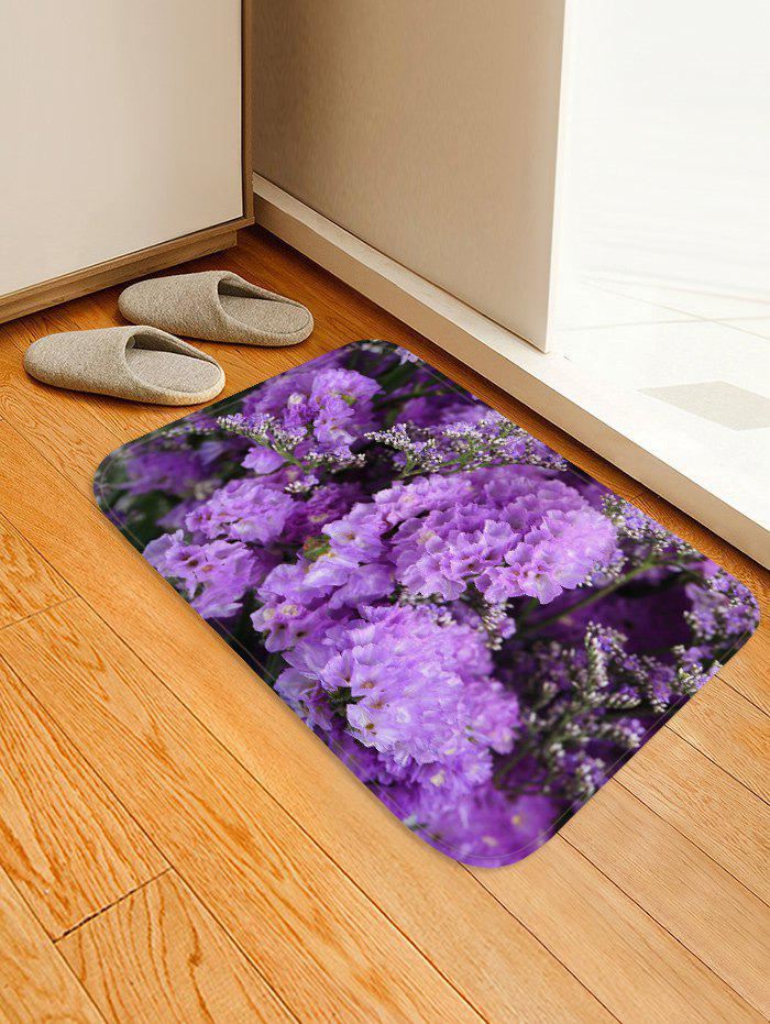 Latest Flowers Pattern Water Absorption Flannel Area Rug
