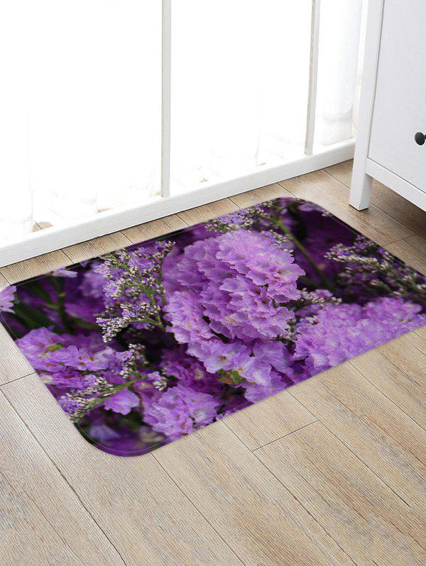 Unique Flowers Pattern Water Absorption Flannel Area Rug