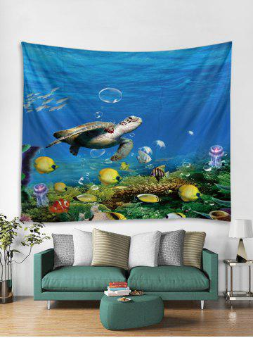 Underwater World Turtle Fish Pattern Tapestry