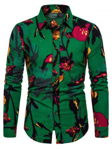 Casual Floral Print Full Sleeves Shirt