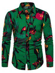 Casual Floral Print Full Sleeves Shirt -