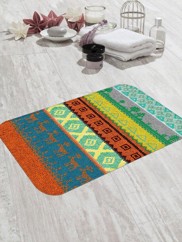 Outfit Ethnic Geometric Deer Print Design Floor Mat