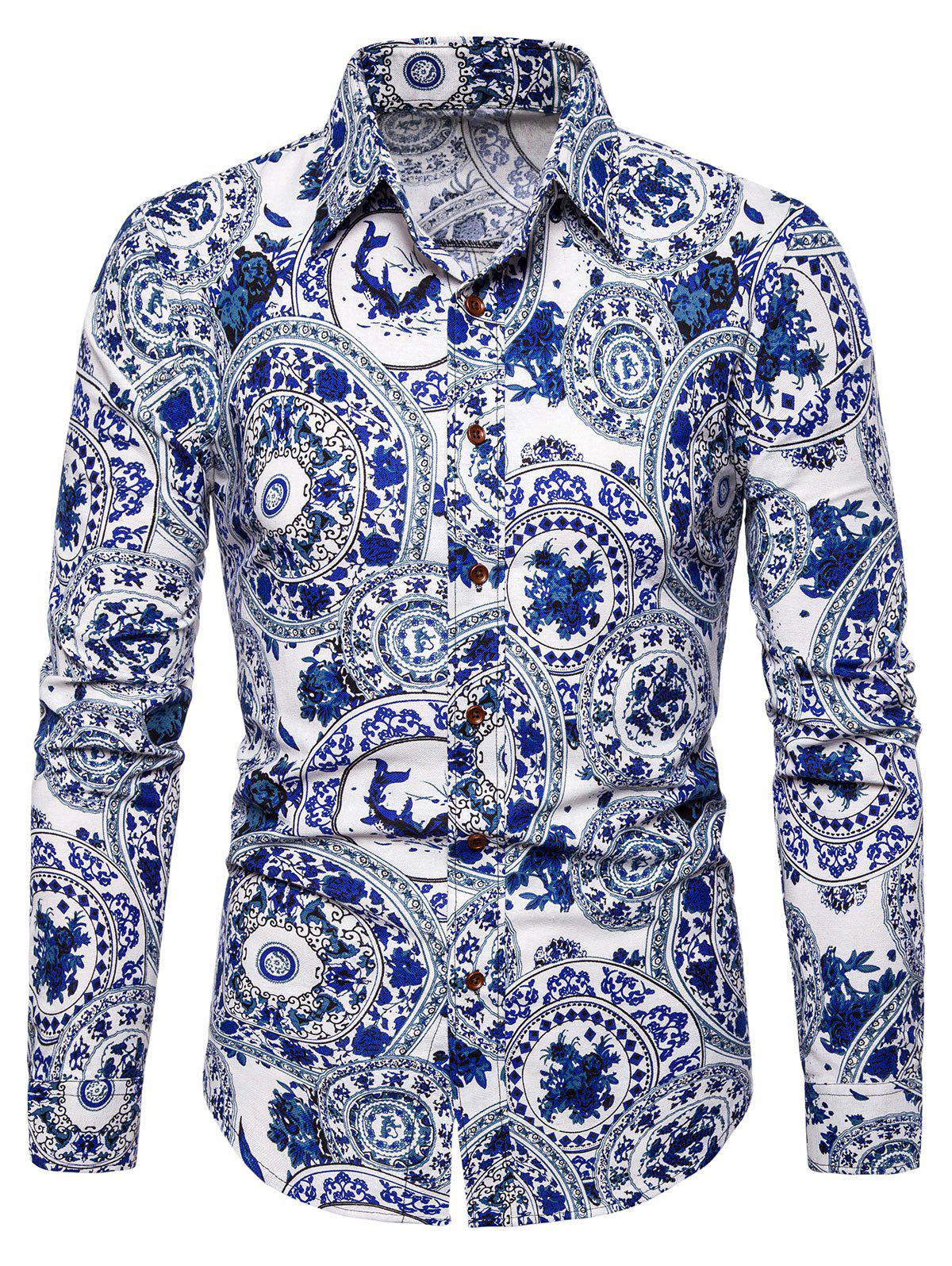 Discount Tribal Printed Full Sleeves Shirt
