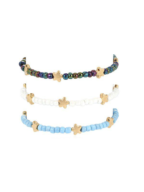Discount Three-piece Beaded Star Anklet Set