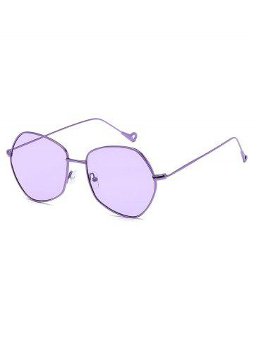 Irregular Metal Hollow Anti UV Sunglasses