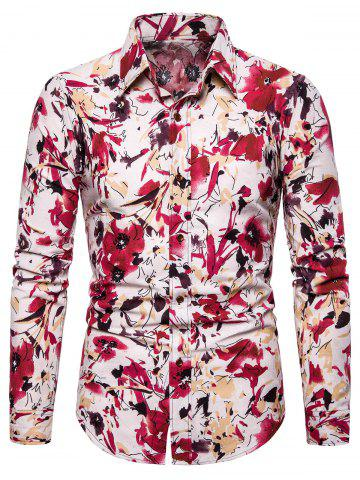Floral Printed Casual Full Sleeves Shirt
