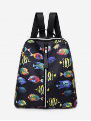 Printed Multifunctional Oxford Fabric Backpack -