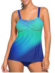 Twisted Ombre Padded Tankini Swimsuit -