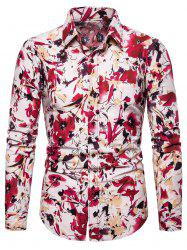 Floral Printed Casual Full Sleeves Shirt -