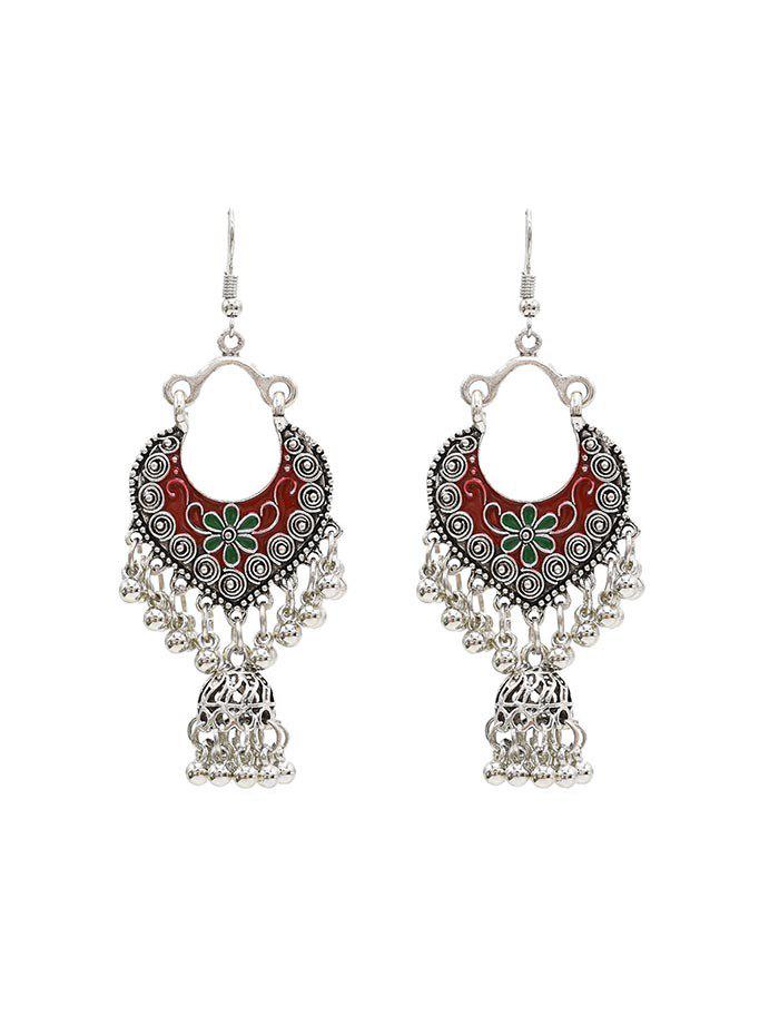 Best Vintage Engraved Floral Fringed Beads Drop Earrings