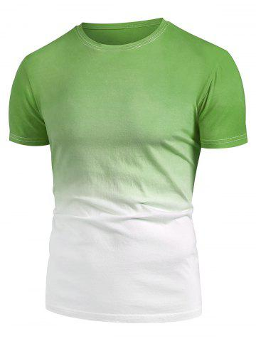 Ombre Short Sleeve Casual T Shirt