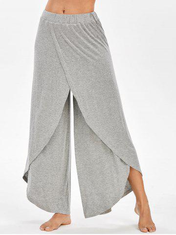 High Rise Overlap Palazzo Pants